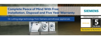 SIEMENS FREE INSTALL, DELIVERY & DISPOSAL 20.01.2019 TO 29.03.19